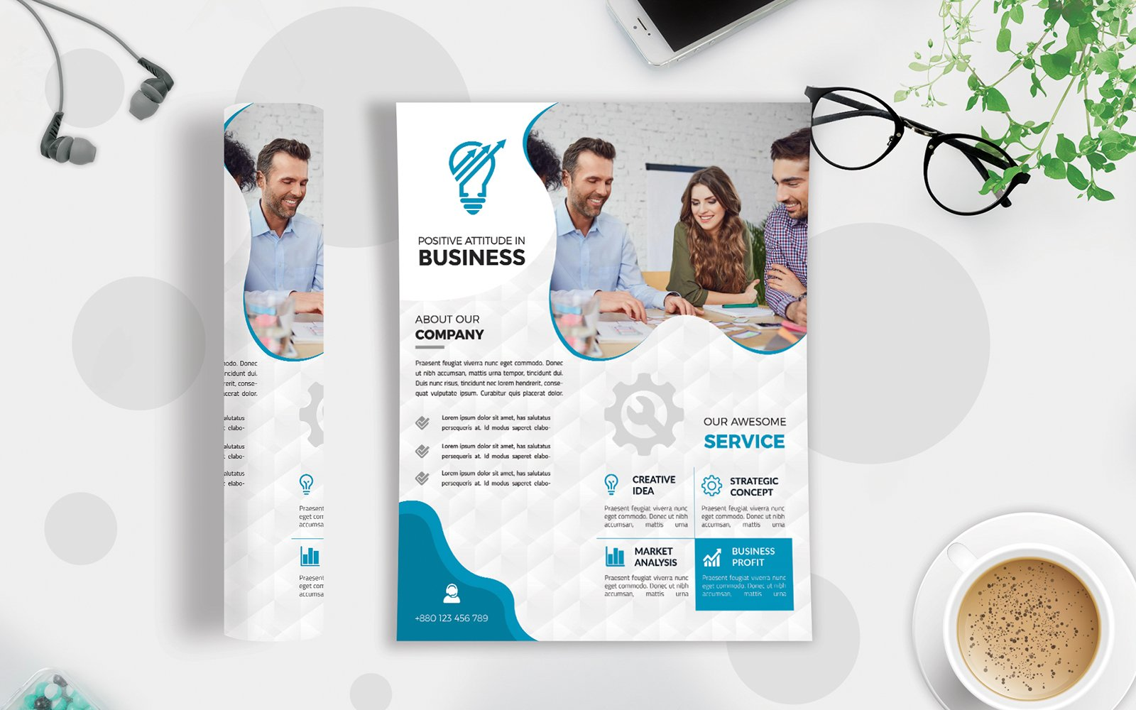 Business Flyer Vol-230 Template de Identidade Corporativa №123045