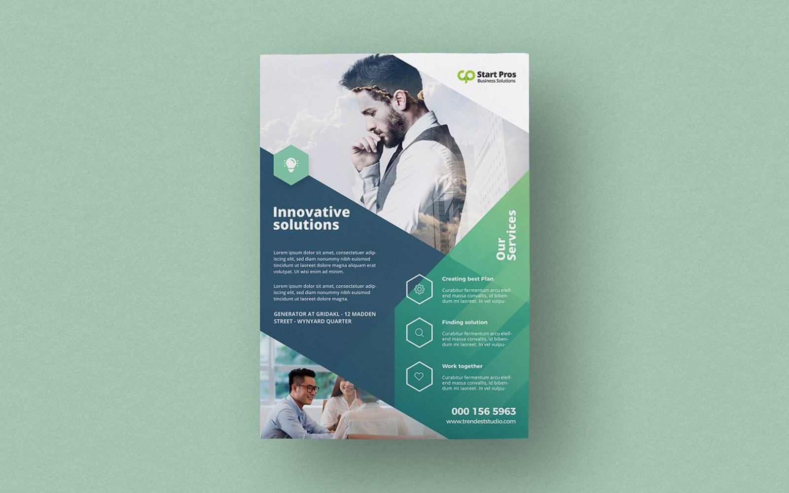 Flyer Template de Identidade Corporativa №123068