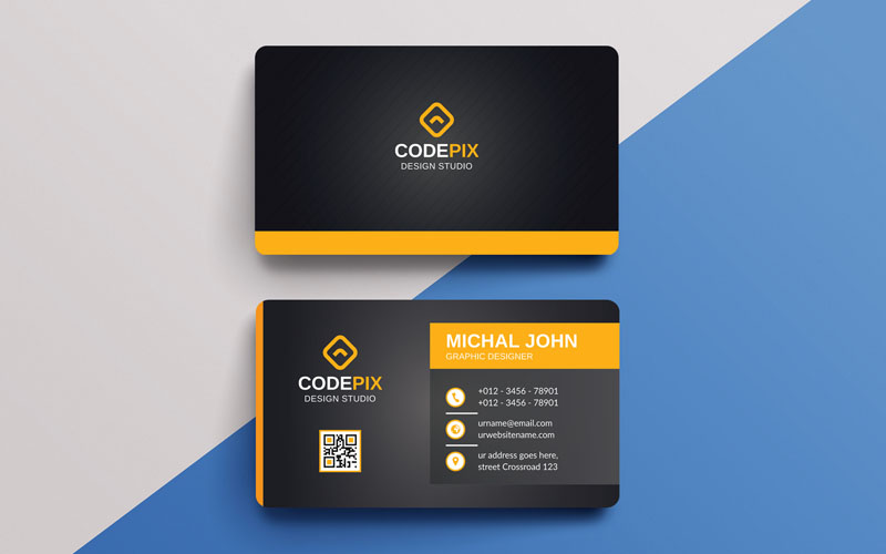 "Plantilla De Identidad Corporativa ""Codepix -  Business Card"" #123028"