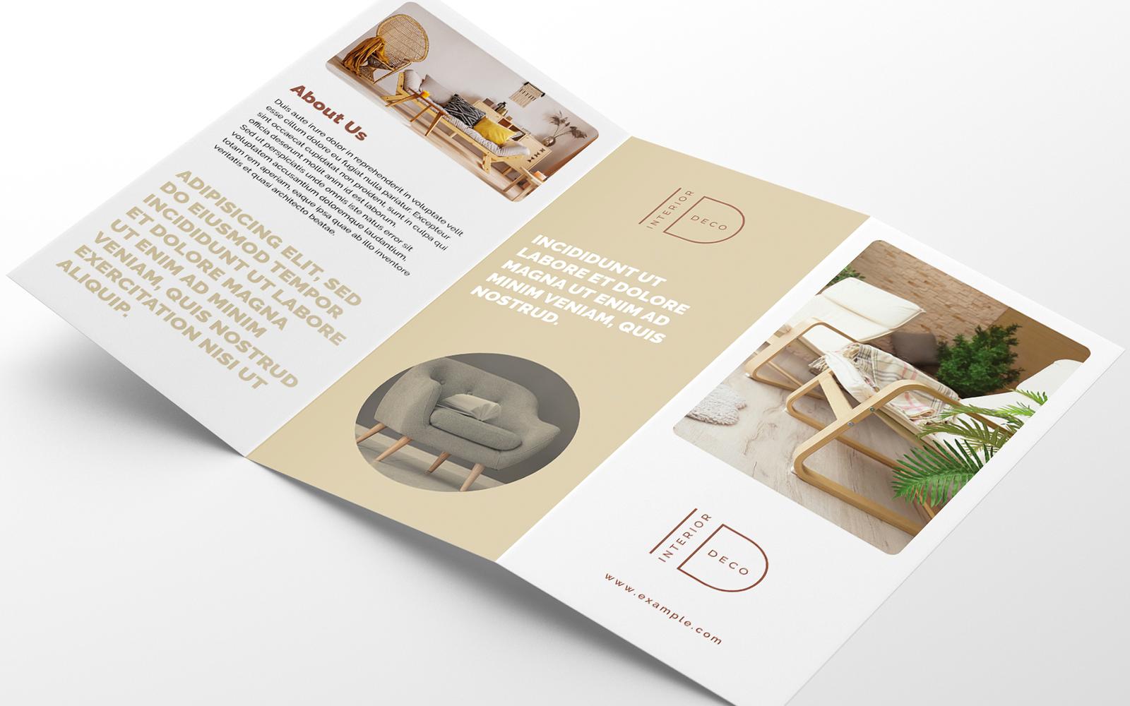 """Plantilla De Identidad Corporativa """"Interior Trifold Brochure Creative"""" #123079"""