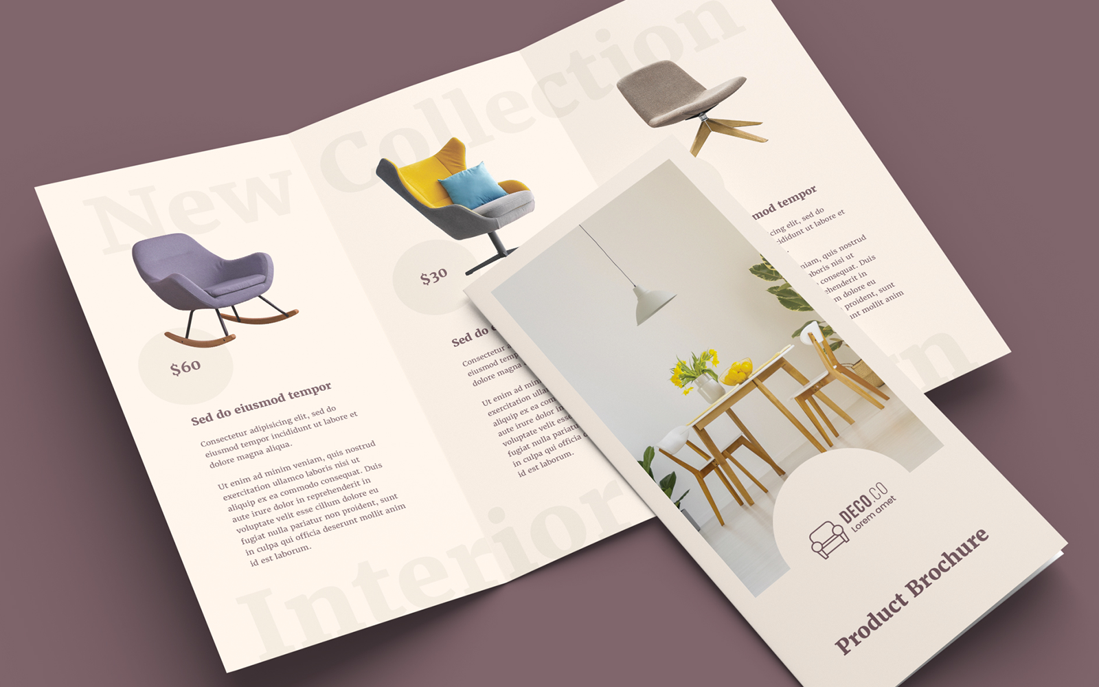 Product Trifold Brochure Creative Corporate Identity Template