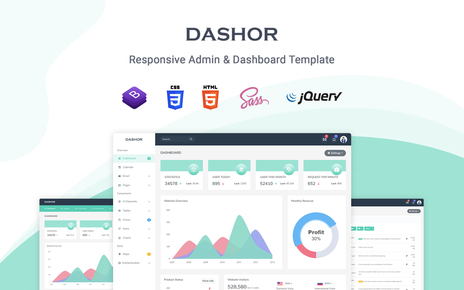 Dashor - Responsive Admin Template