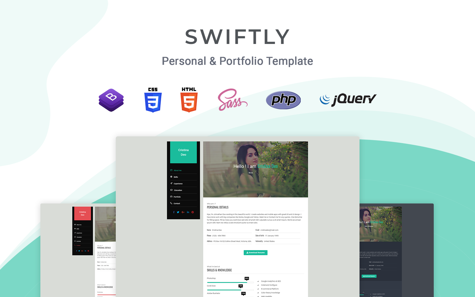 Swiftly - Responsive Landing Page Template
