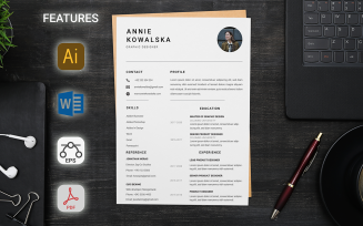 Simple With Cover Letter Resume Template