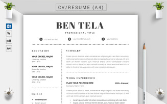 Ben Tela - CV Resume Template
