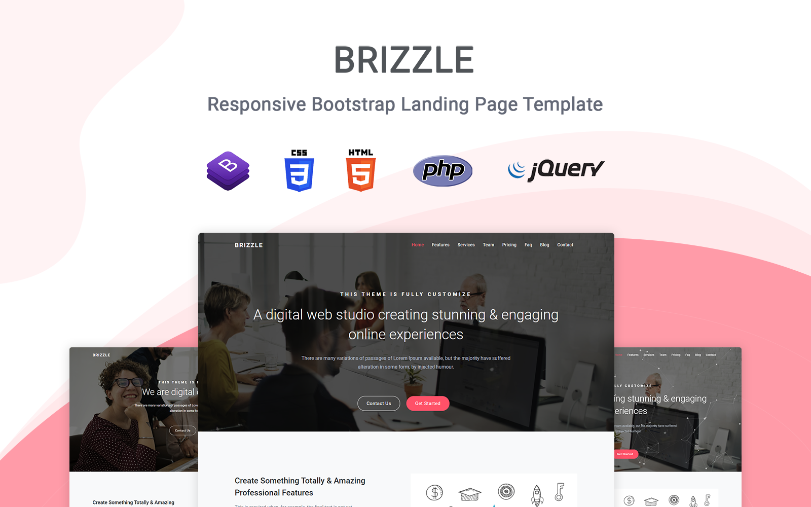 Brizzle - Responsive Landing Page Template