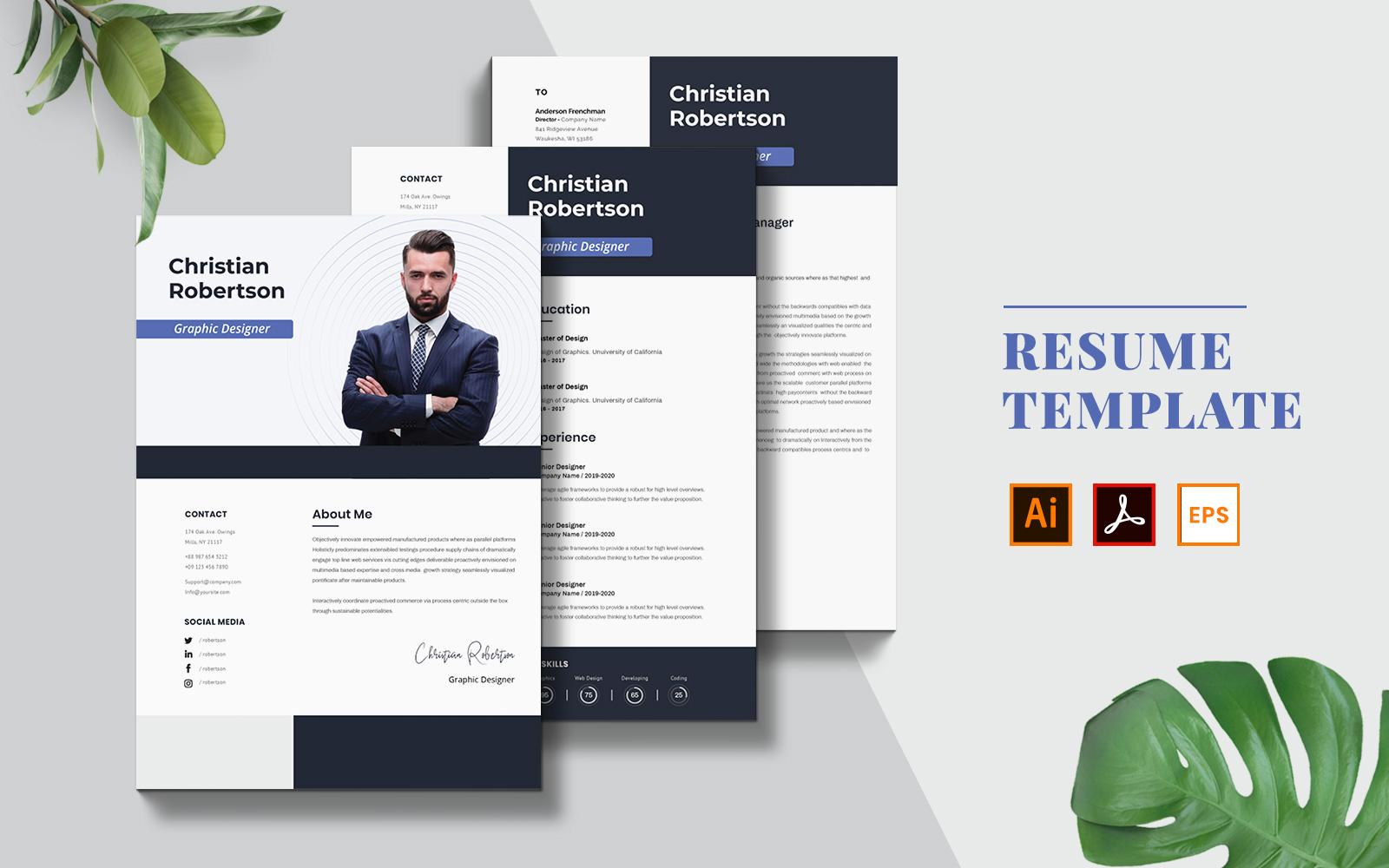 Szablon resume Business #123151