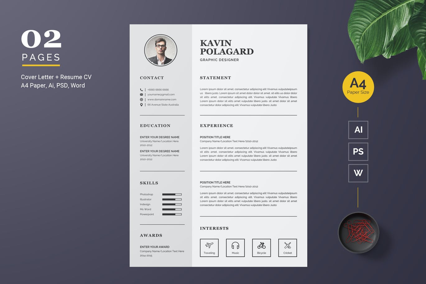 Szablon resume Professional and Clean #123183