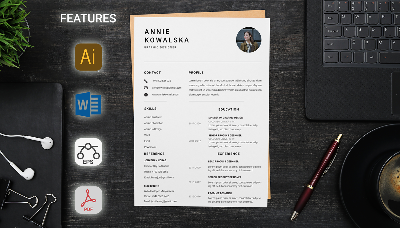 Szablon resume Simple With Cover Letter #123176