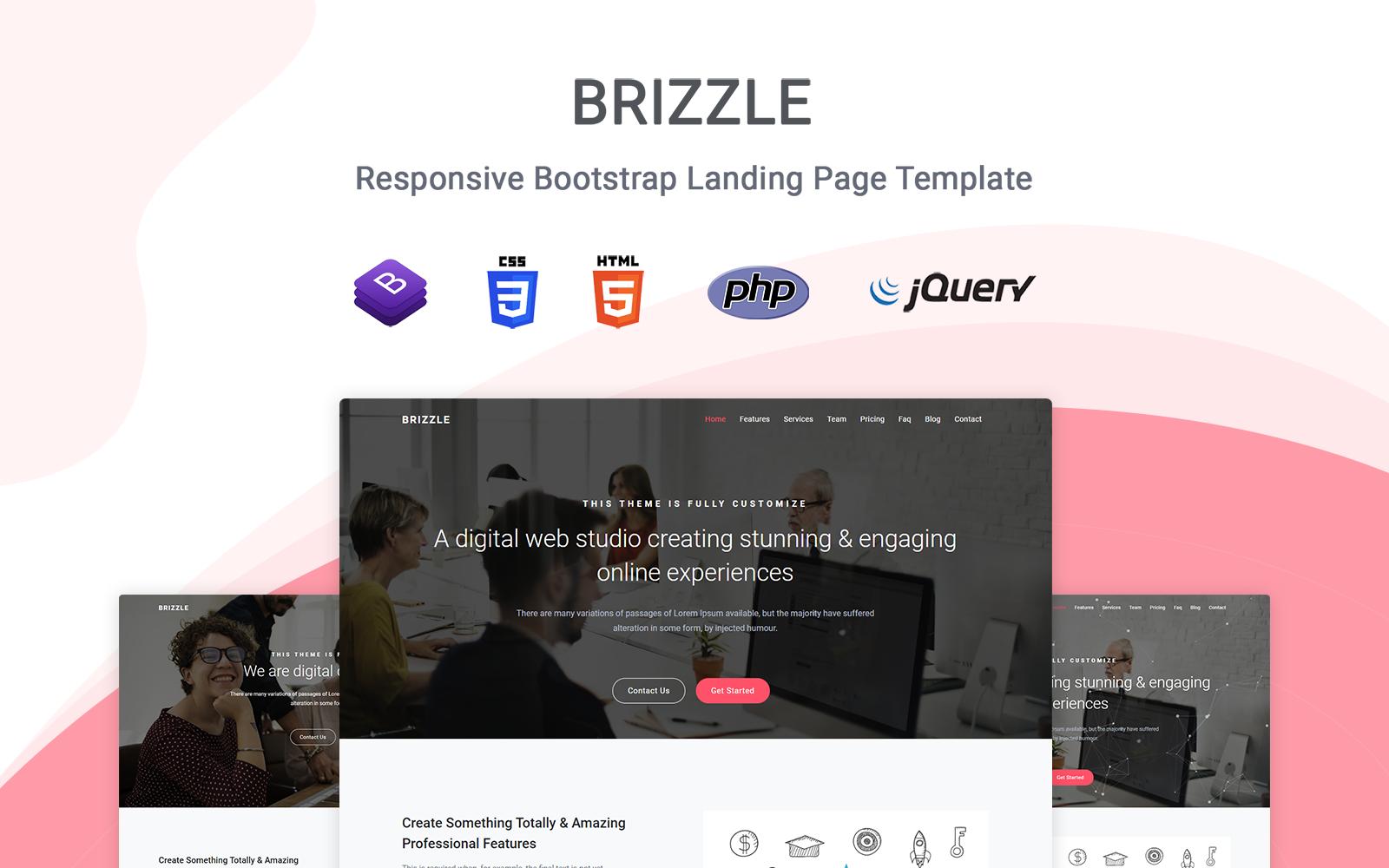 """Tema di Landing Page Responsive #123153 """"Brizzle - Responsive"""""""