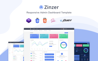 Zinzar - Responsive Admin Template