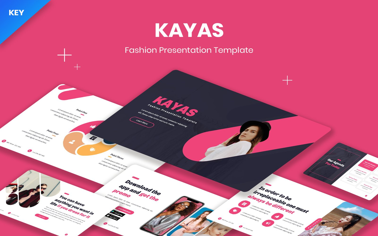 "Plantilla Keynote ""Kayas - Fashion"" #123293"