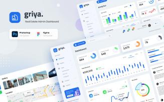 Griya - Real Estate Admin Dashboard