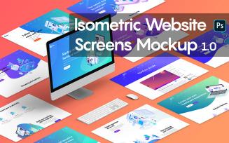 Isometric Website Screens 1.0