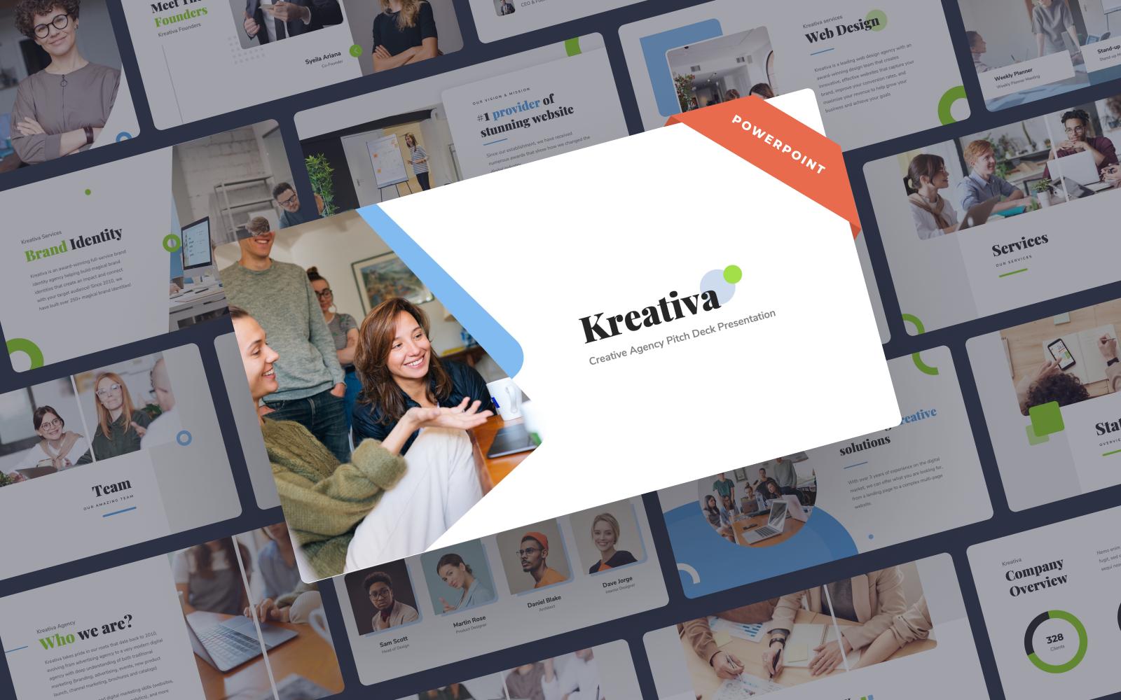 Kreativa - Creative Agency Presentation PowerPoint Template
