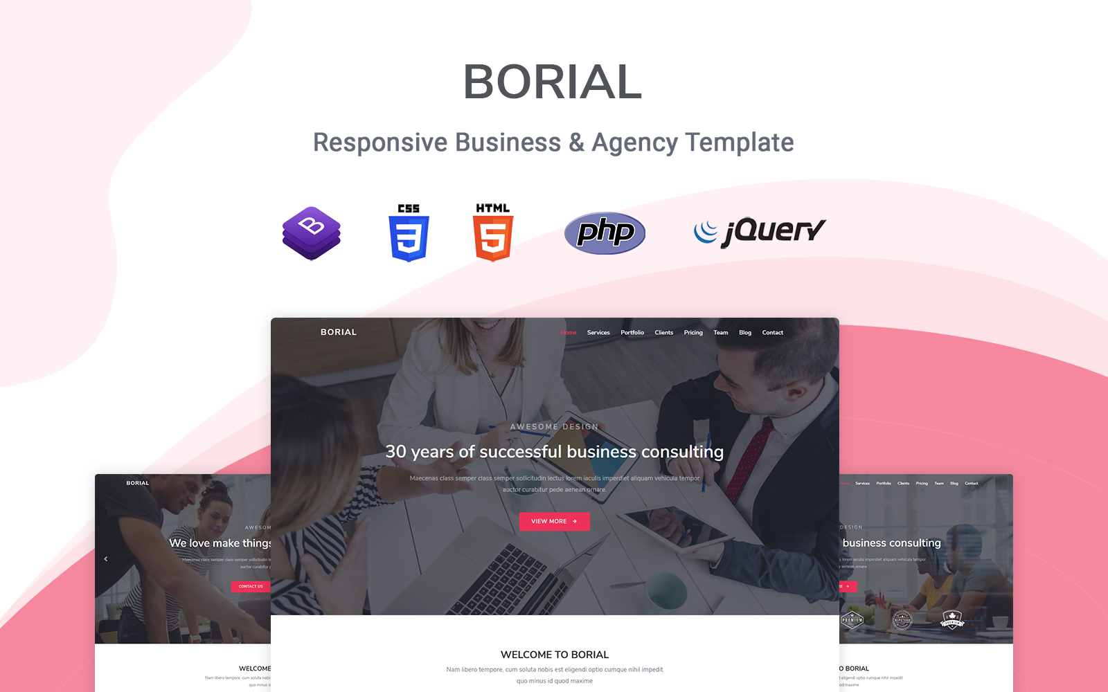 Borial - Bootstrap Landing Page Template