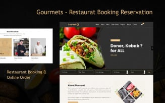 Gourmets - Restaurat Booking Reservation