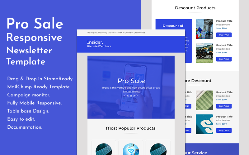 ProSale - Responsive Ecommerce Email Newsletter Template