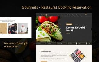 Gourmets - Restaurat Booking Reservation Joomla Template
