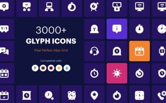3000+ Glyph Template Iconset