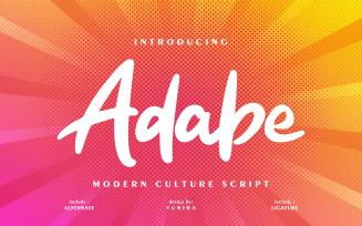 Adabe | Modern Culture Cursive Font