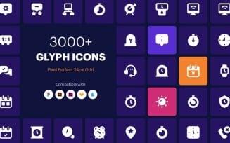 3000+ Glyph Icon Set