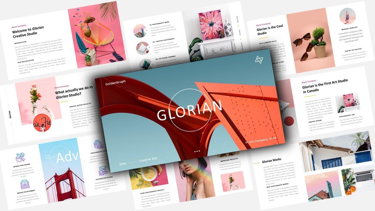 "Tema Keynote #123459 ""Glorian Creative Business"""