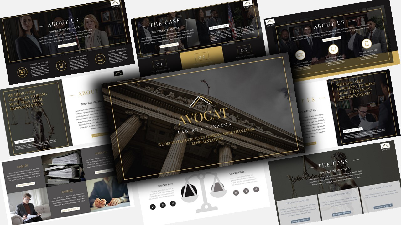"Template Keynote #123457 ""Avocat Lawyer"""