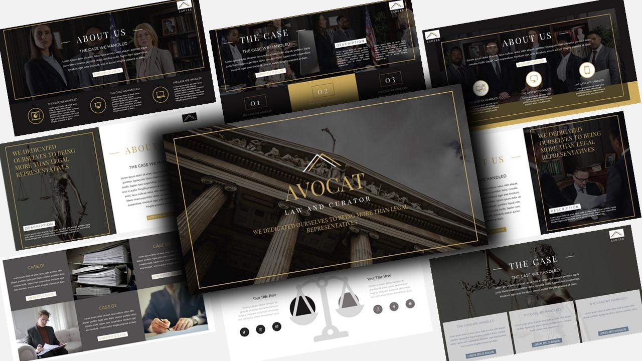 """""""Avocat Lawyer"""" modèle PowerPoint Premium #123562"""
