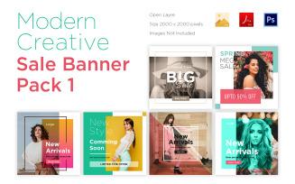 6 Modern Banner Pack 1 Social Media Template