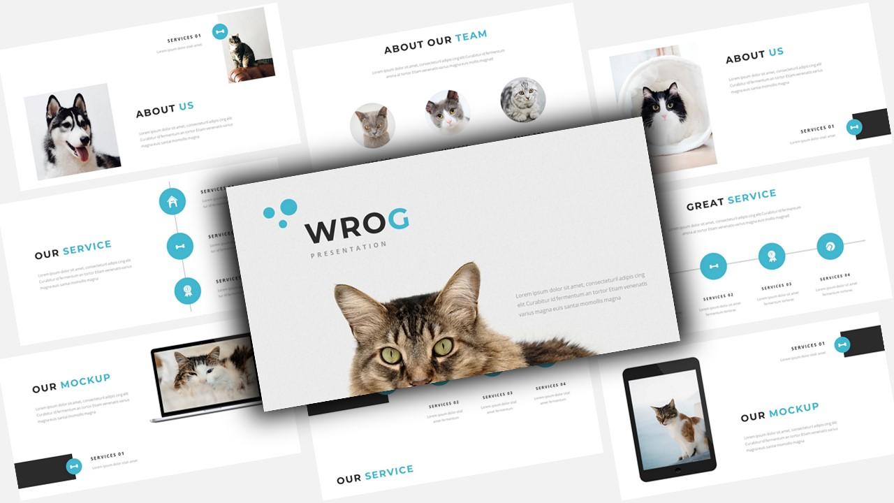 """Wrog A Pet Service Presentation"" - PowerPoint шаблон №123563"