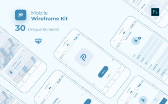 Pride Mobile Wireframe Kit UI Elements