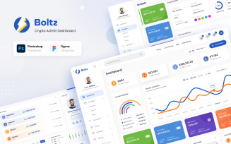 Boltz - Crypto Admin Panel Dashboard UI Figma and PSD Template