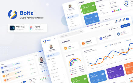 Boltz - Crypto Admin Panel Dashboard UI Figma and PSD Template UI Element