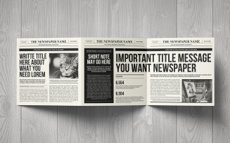 Newspaper Trifold Square