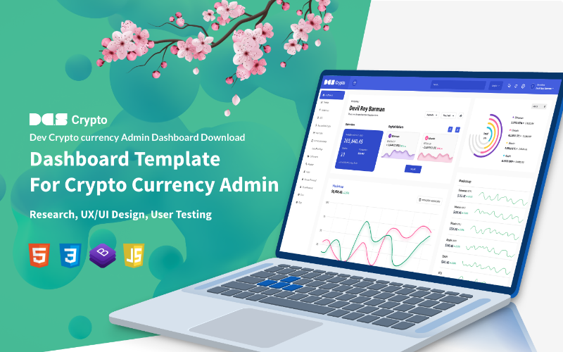 DCrypto CryptoCurrency Dashboard Admin Template