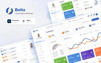 Boltz - Crypto Admin Panel Dashboard UI Figma and PSD Template