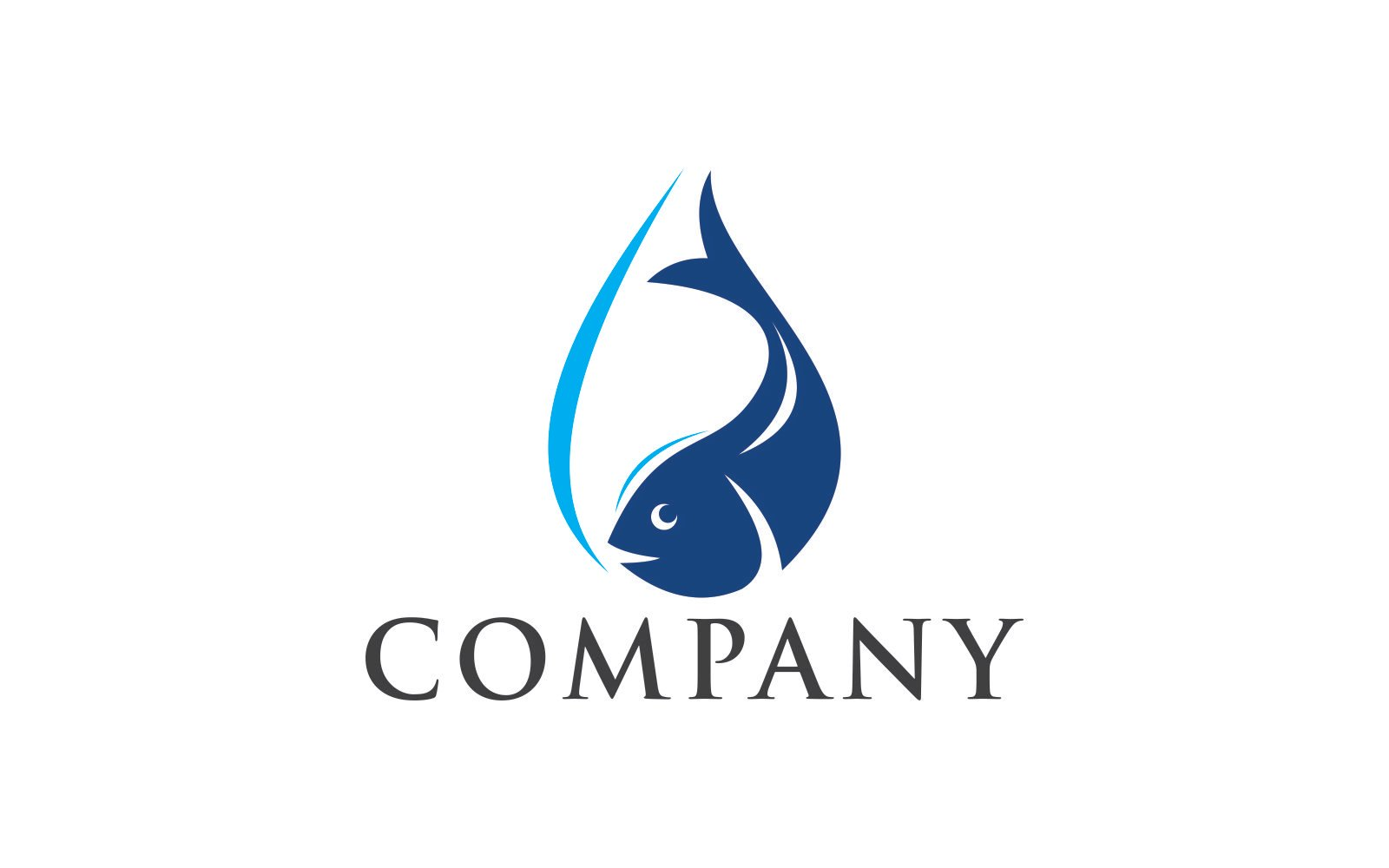 Fish water Unika logotyp mall #123655