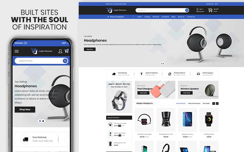 "Responzivní Shopify motiv ""Light Electron - The Electronics & Mobile Premium"" #123626"