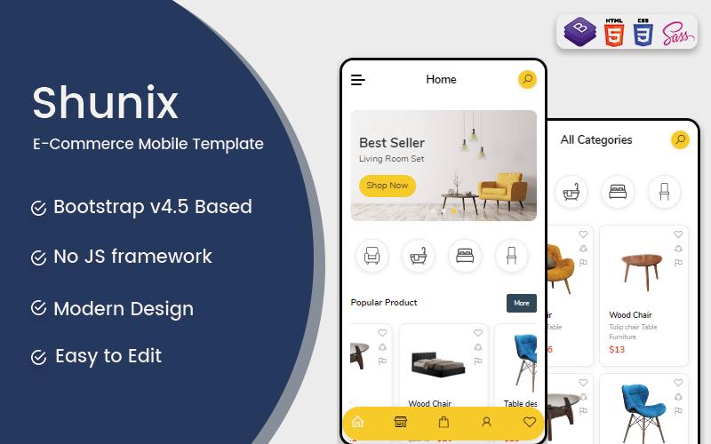 """""""Shunix"""" modèle web adaptatif #123623"""