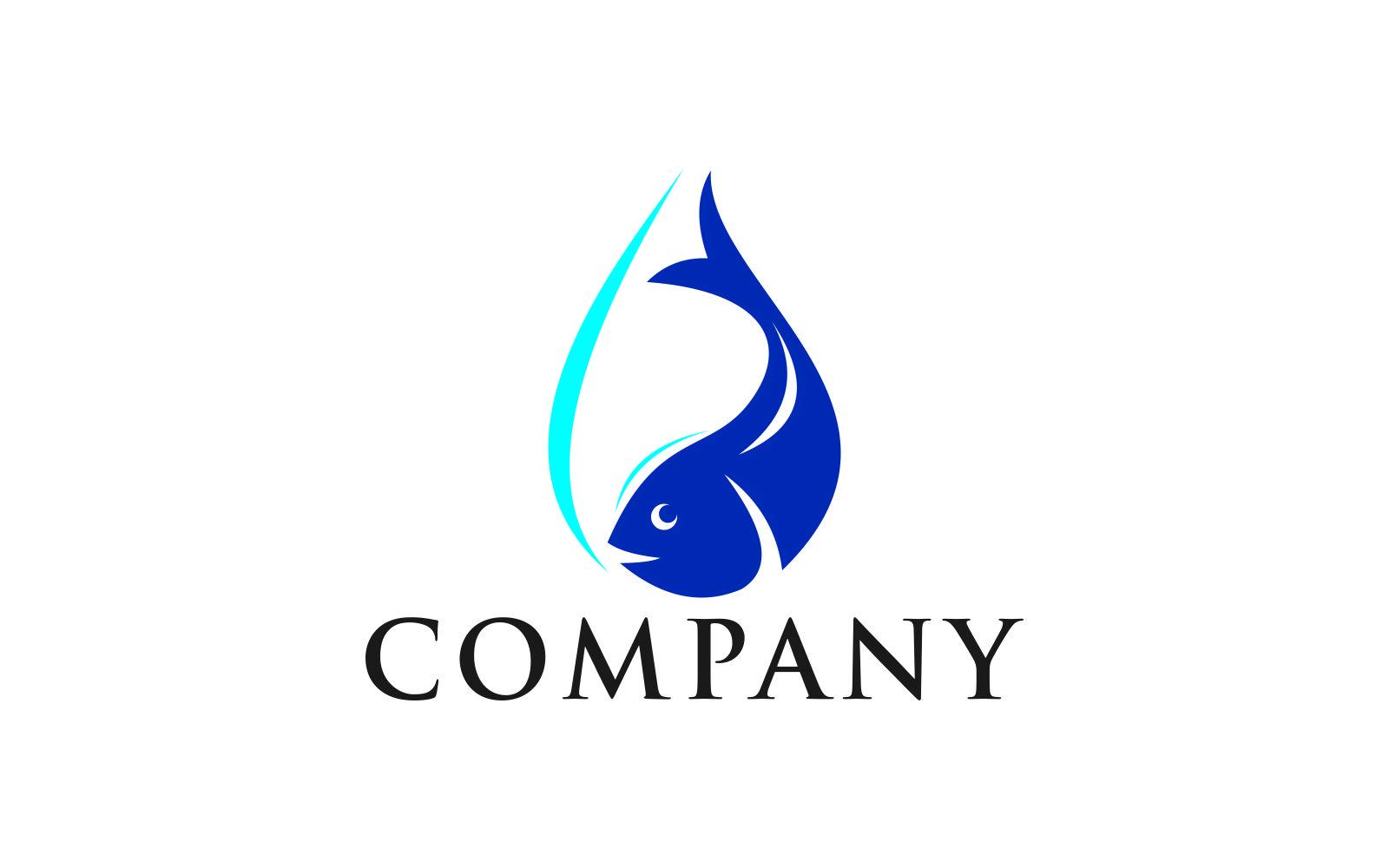 Szablon Logo Fish water #123655