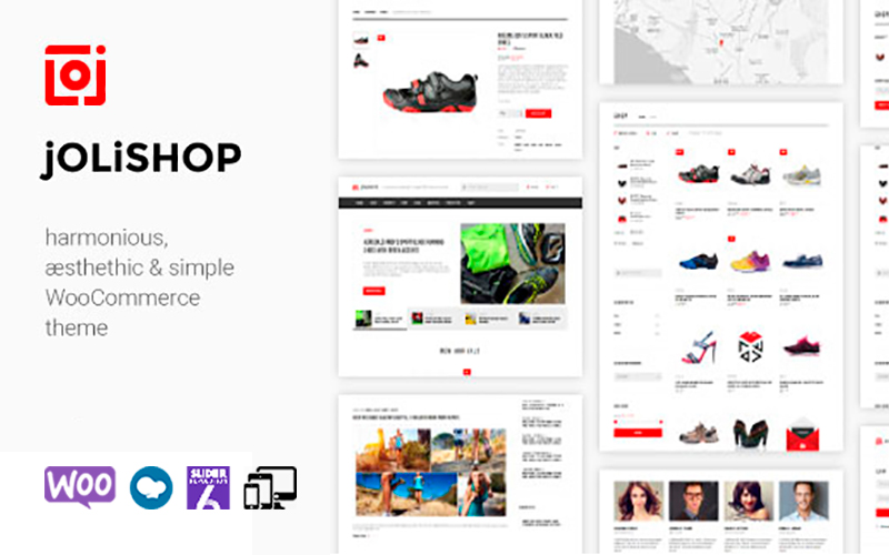 "Template WooCommerce Responsive #123628 ""Jolishop - Simple"""