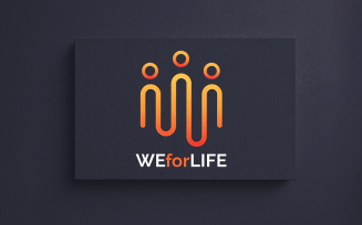 We for Life Logo Template