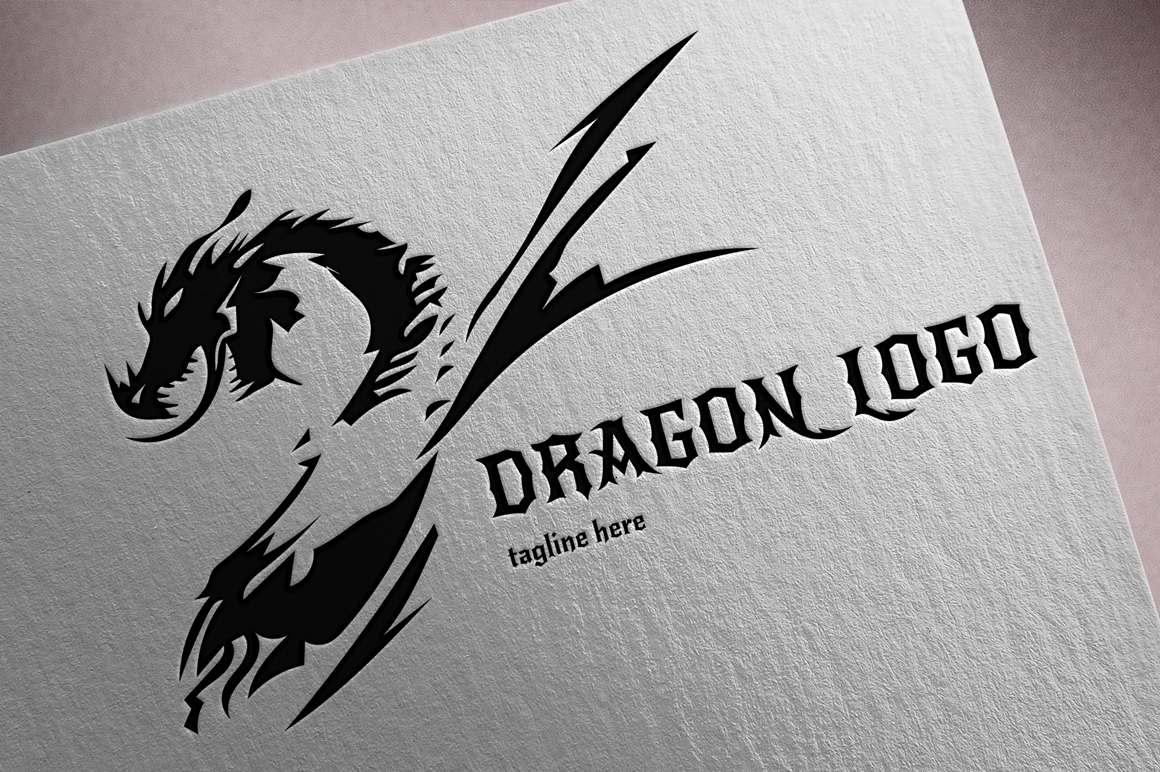 Szablon Logo Dragon #123706