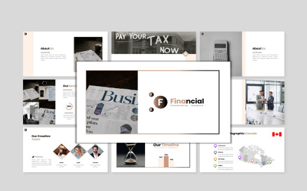 Financial Report - Creative Business PowerPoint Template