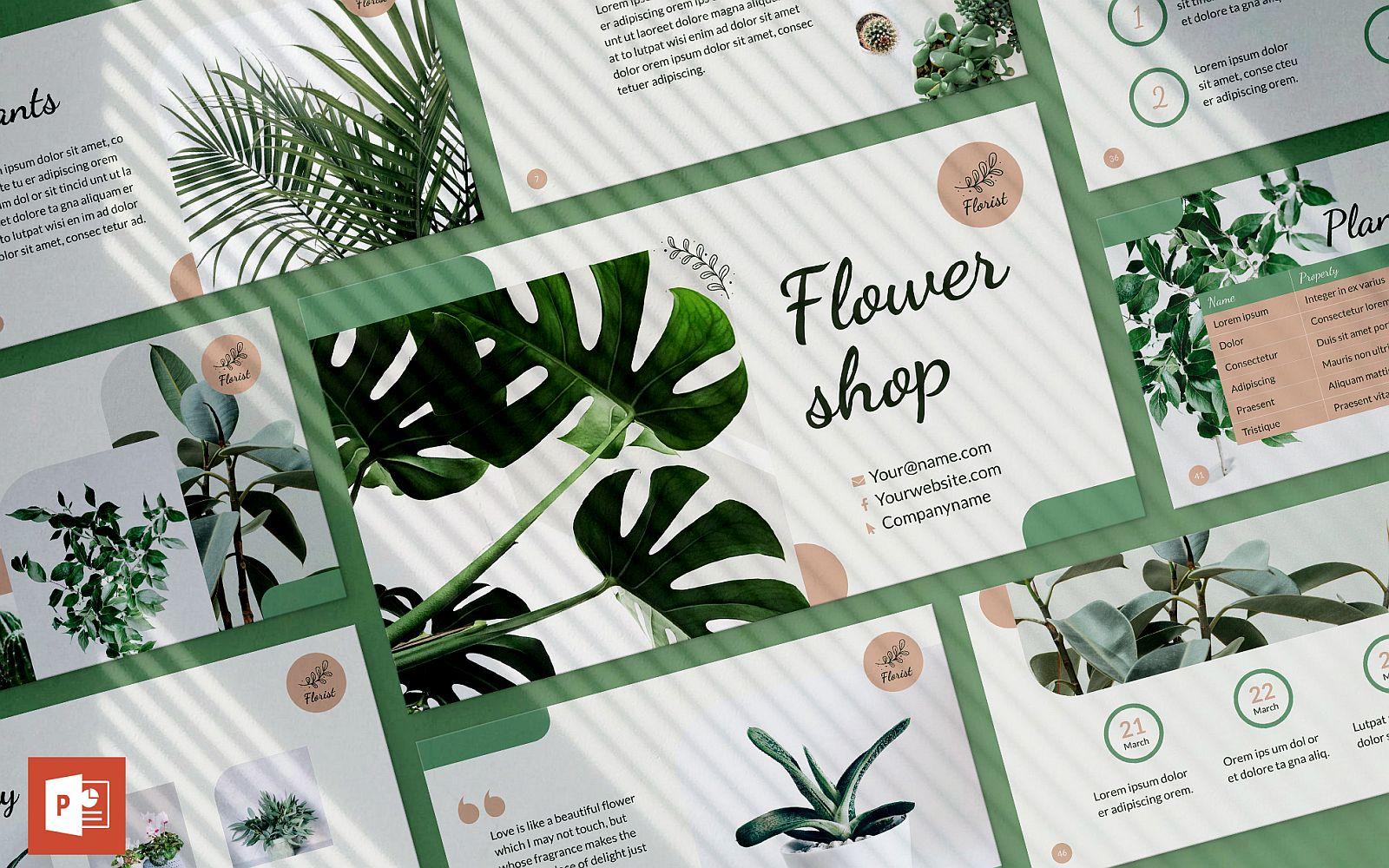 """""""Flower Shop Presentation"""" modèle PowerPoint Premium #123899"""