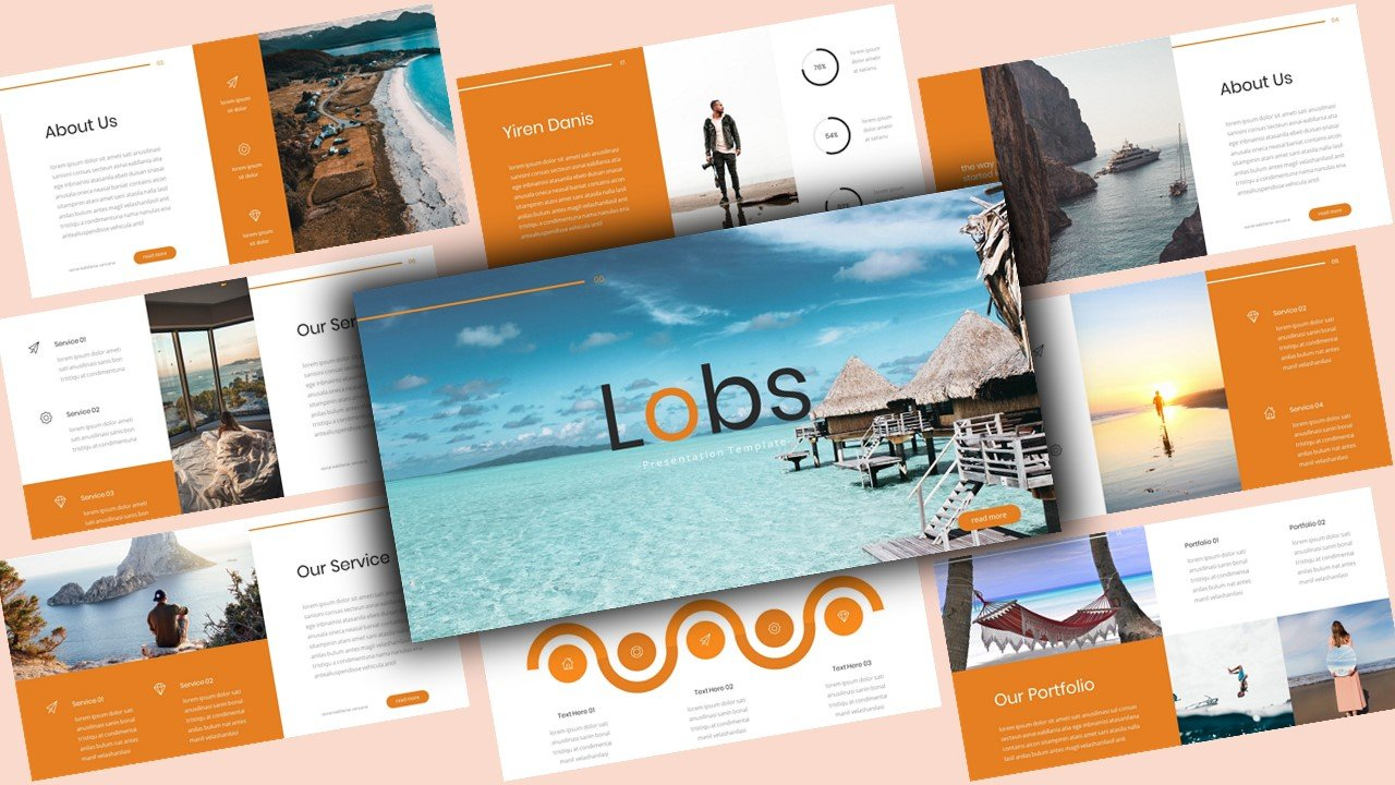 """Lobs Creative"" - PowerPoint шаблон №123871"