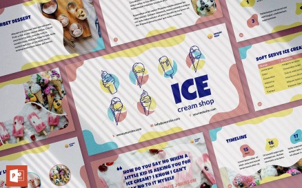 Ice Cream Shop Presentation PowerPoint Template