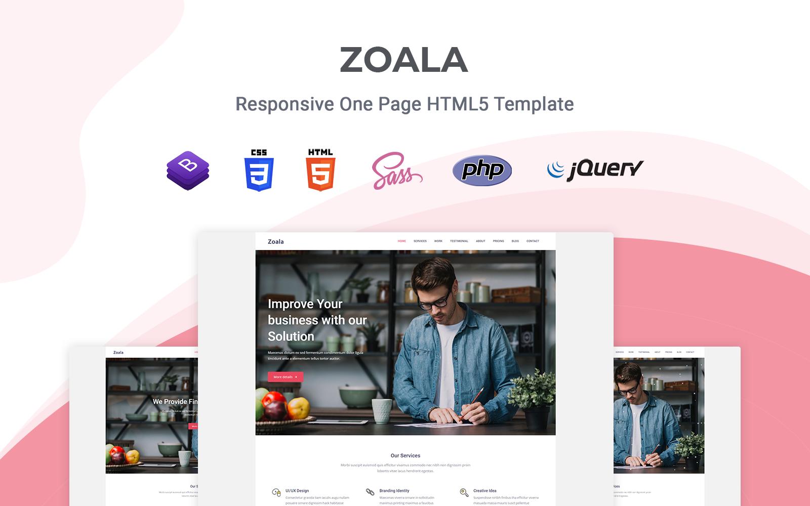 Zoala - Responsive Landing Page Template