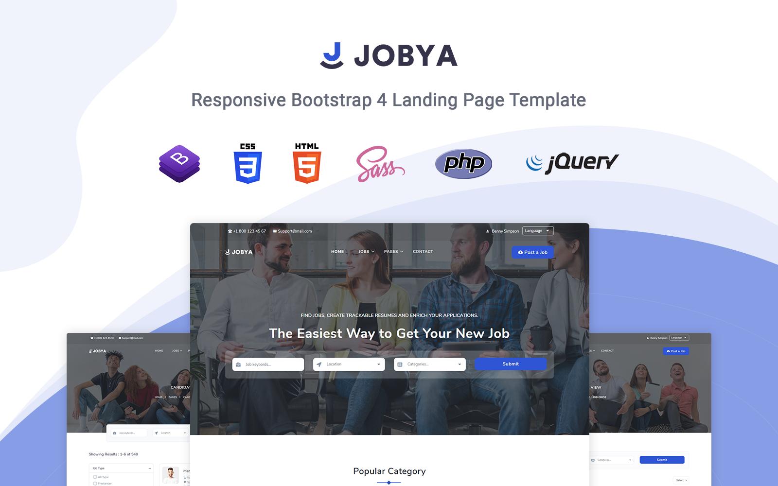 Jobya - Responsive Landing Page Template